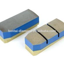 diamond fickert metal bond polishing block for marble, granite on automatic grinding machine