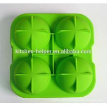 China fabricante Gran Regalo BPA libre Fabricante de grado alimenticio Ice Ball fabricante Silicona Esfera de hielo moldes / silicona bola de bolas de molde