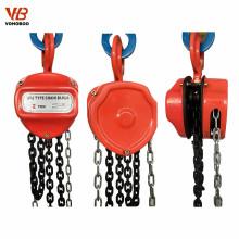 Polipasto de cadena de bloque de polea de cadena manual de 1-1 / 2 toneladas y 5 toneladas 10 pies
