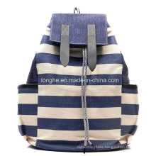 Leisure Canvas Stripe Backpack (ZXS0051)