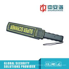 Detector de metales portátil de sonido / luz / vibración con mango antideslizante