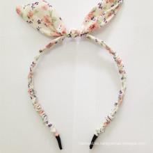 Tejido de color rubio Auricular de conejo Auriculares con cable
