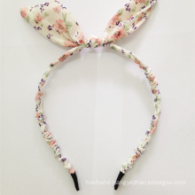 Blonde Color Fabric Rabbit Ear Wired Headband