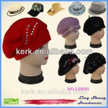 New design fashion Ladies Hats cap elegant wool hat for women ,LSW43