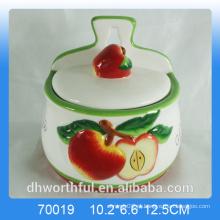 Cozinha criativa maçã cerâmica tempero jarros spice atacado