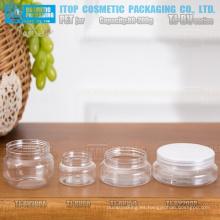 TJ-BV serie 80g 150g y 200g amplia aplicación sola capa frascos pet personalizables de los color boca ancha con tapa de aluminio
