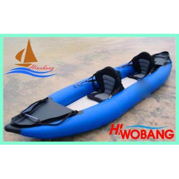 Doppeltes aufblasbares Kajak, PVC-Fischerboot zu verkaufen
