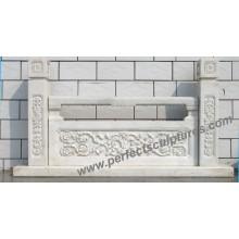Balaustrada de baldosas de granito de mármol de granito para balaustrada de escaleras (LG015)