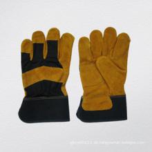 Rindspaltleder verstärkte Palm Work Glove-3088
