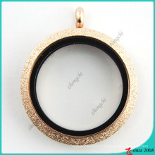 Rose Gold Spark verre ouvert médaillon en gros (FL16041808)