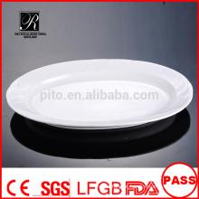 Atacado de porcelana / cerâmica prato de placa de serviço de placa
