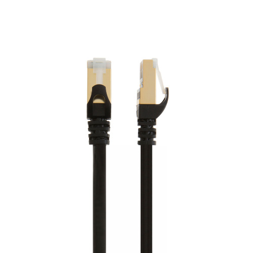 Cable Ethernet CAT8 negro de 100 pies