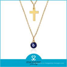 Завод дешевые Оптовая цена горный хрусталь ожерелье набор серебро ожерелье (Джей-0230N)