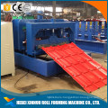 Color steel tile roof panel floor board making line glazed tile roll froming machine