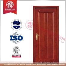 Conception de porte en mélamine sans peinture, Porte de carton en mélamine respectueuse de l'environnement, portes en bois MDF de qualité