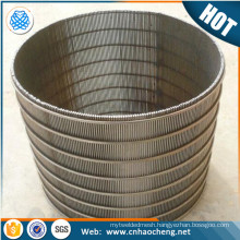 High quality V shaped welded stainless steel wedge wire screens/ mine screen mesh johnson pipe