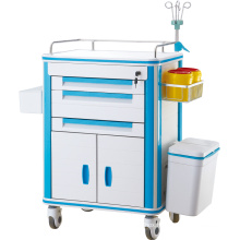 ABS 5 Layers Hospital Clinical Patient Treatment Nursing Emergency Trolley