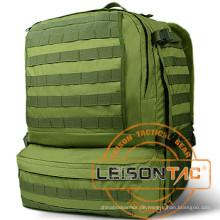 Military Rucksack mit Hydration System nimmt hohe Stärke 1000d Nylon, das mit wasserdichter und flammhemmender Behandlung behandelt wird