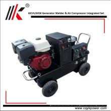 Luftgekühlte Dieselmotoren mit Schweißer Dynamo Generator 6kw zum Verkauf