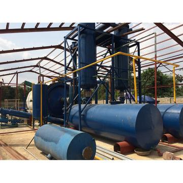 línea de producción de reciclaje de neumáticos de desecho de reactor rotatorio horizontal con buena calidad de aceite