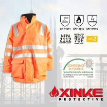 Jaqueta protetora de primeira classe safty arc flash para soldadores uniformes