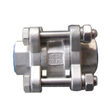 Stainless Steel 3 Piece in-Line Spring Check Valve
