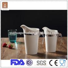 1000ml / 650ml 2pcs tamanho diferente porcelana insualted leite jarro atacado