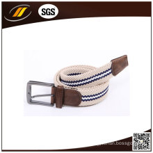 Wholesale Colorful Braided Fabric Woven Elastic Belt for Men and Women