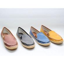 Confortável TPR sapato de lona mulher atacado slip-on sapatos