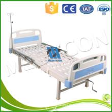 Patient Bett mit Diner Drehtisch, manuelle faltbare Krankenhaus Medical Bed