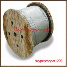 Zinc-coated steel wire strands