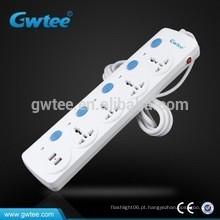 Venda quente 5 tomada elétrica universal do soquete da proteção da sobrecarga da tomada elétrica