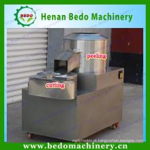 microplaquetas de batata que limpam a casca e que cortam a máquina / o corte e a máquina de descascamento da batata