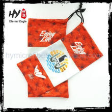 Multifunctional sunglasses pouch custom gold logo, sublimation printed bag for goggles, custom made optical glasses pouches