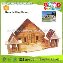 326pcs brinquedos de madeira de borracha grandes blocos de construção