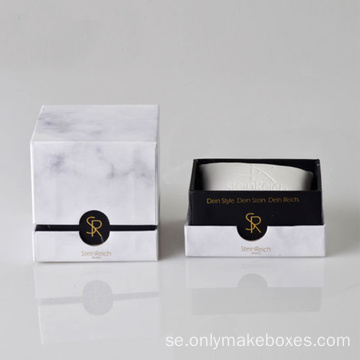 Luxury Marble Printing Packaging Watch kartonglåda