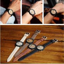 Yxl-465 2016 Vogue Japón Movimiento De Cuarzo Relojes De Pulsera Conlor De Madera Cara De Reloj De Cuero Deportivo Ladies Watch Venta al por mayor
