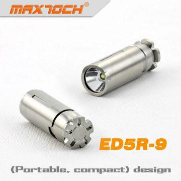 MAXTOCH ED5R-9 Stainless Steel 320 Lumens Cree LED Keychain Flashlight