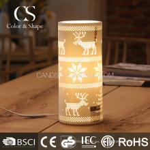 Lámpara de mesa decorativa copo de nieve y venado de fábrica