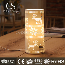 Decoration snowflake and deer pattern table lamp from factory