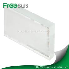 cristal de la sublimación en blanco con la capa