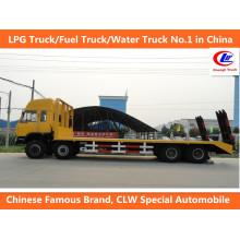 Cargo Transport 40ft Dongfeng 8*4 Flatbed Transport Trucks