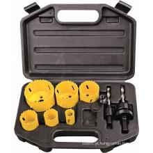 Conjunto de serra craneana bi-Metal titânio revestido PVC preto OEM mão ferramentas DIY
