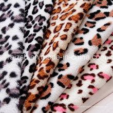 Leopard gedruckte Korallen Fleece Stoffe für Großhandel