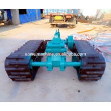Sistema de material rodante de chassi de esteira de borracha para barco basculante com sistema hidráulico HST escavadeira carregadeira