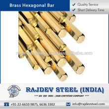 Superior Strength/ Corrosion Resistance Brass Hexagonal Bar Available in Different Industry Specifications