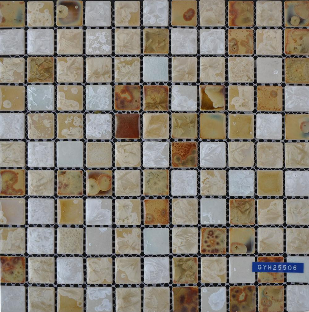 Color Mixed Glazed Ceramic Mosaic