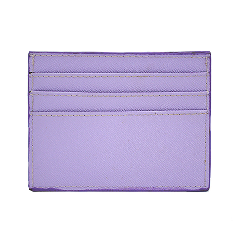 Custom Minimalist Saffiano Pu Leather Credit Card Holder