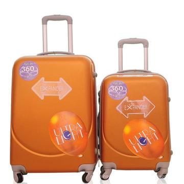 Valise de valise de chariot de voyage d'ABS de visage souriant bon marché