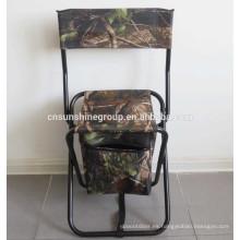 Venta caliente plana al aire libre plegable Bolsa nevera pesca con fabricante de la silla